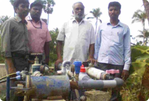 structured water unit installation